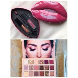 Huda Beauty Bundle!! New Nude Palette + Lip kit
